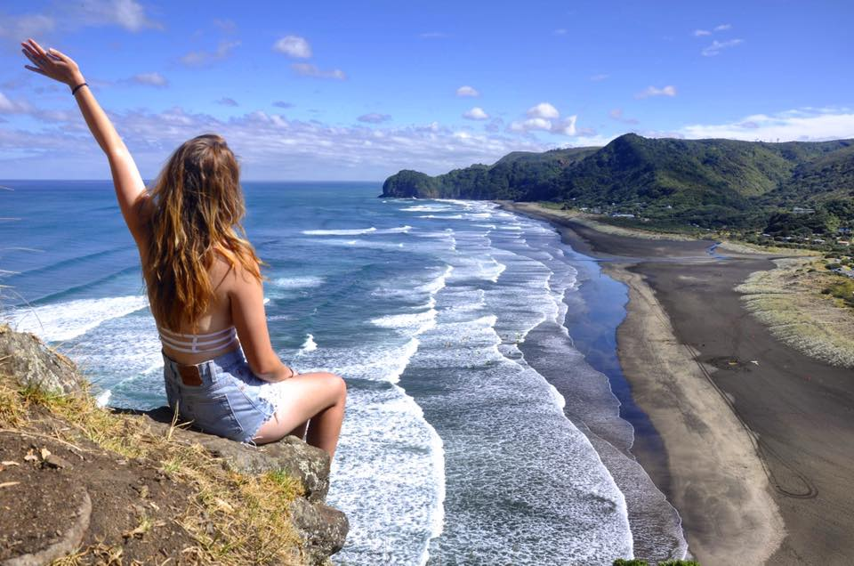 Piha Beach by Real World Runaway